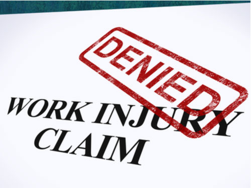 Denied work injury claim, Lincoln County workers' compensation lawyer concept