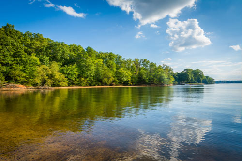 Lake Norman, at McCrary Access Area, in Mooresville, North Carolina.